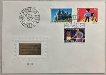 1969 FDC Werbemarken und Alpen