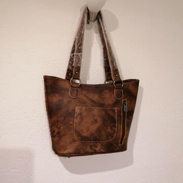 Grosse Leder-Handtasche