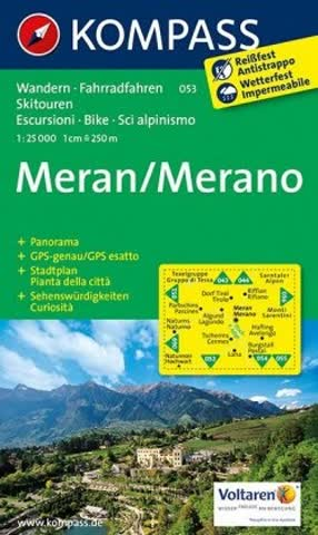 Kompass Karten: Kompass Karte Meran. Merano