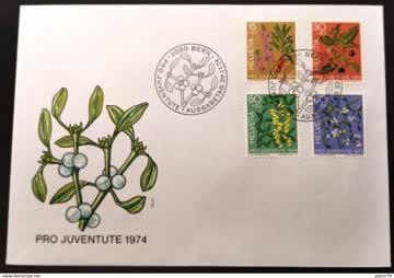 1974 FDC PJ Giftpflanzen MiNr: 1042-1045