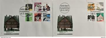 1973 FDC Landschaftsbilder MiNr: 1003-1012