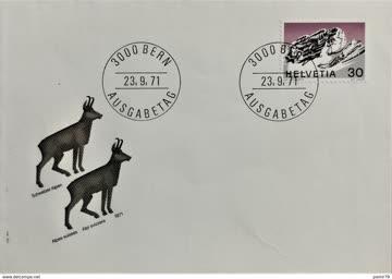 1971 FDC Alpen V MiNr: 953