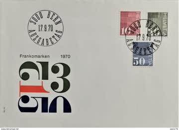 1970 FDC Automatenmarken MiNr: 933-935