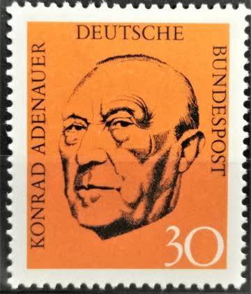 1968 Todestag Konrad Adenauer postfrisch** MiNr: 567