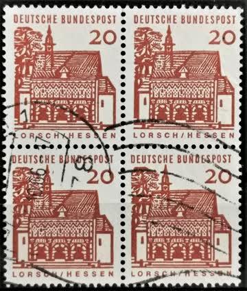 1964 Torhalle Lorsch Viererblock MiNr: 456