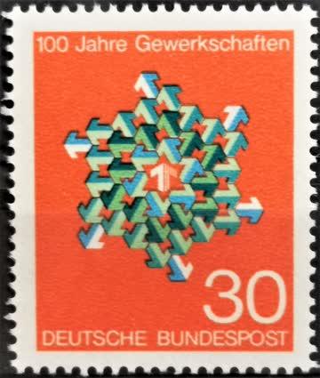 1968 Gewerkschaften Deutschlands postfrisch** MiNr: 570