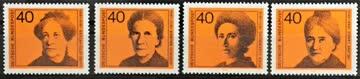 1974 bedeutende deutsche Frauen postfrisch ** MiNr: 791-794