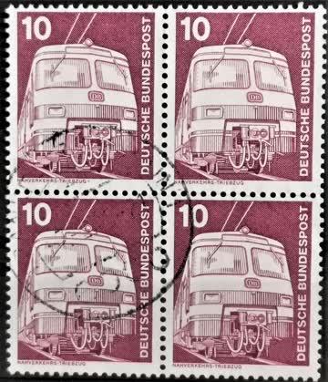 1975 Triebzug ET 420/421 Viererblock MiNr: 847
