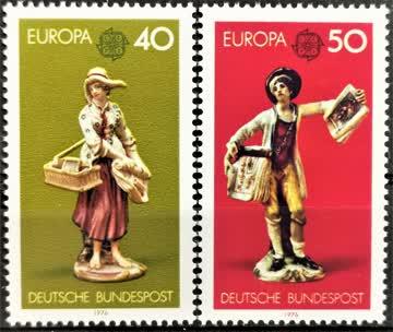1976 Europa Kunsthandwerke postfrisch** MiNr: 890-891