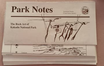 Flyer Broschüre Kakadu National Park in Englis