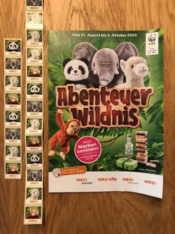 COOP Abenteuer Wildnis 47 neue Sammelmarken Marken Stickers