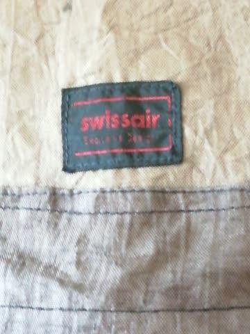 swissair (stoff)-rucksack, schwarz
