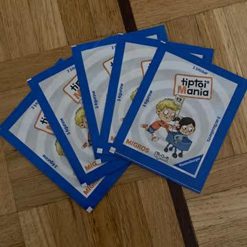 Migros Tiptoi Mania 3x5=15 Stickers