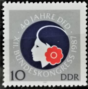 1987 DDR Demokratischer Frauenbund postfrisch** MiNr: 3079