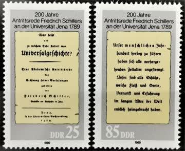 1989 DDR Antrittsrede F. Schiller postfrisch** MiNr: 3254-32