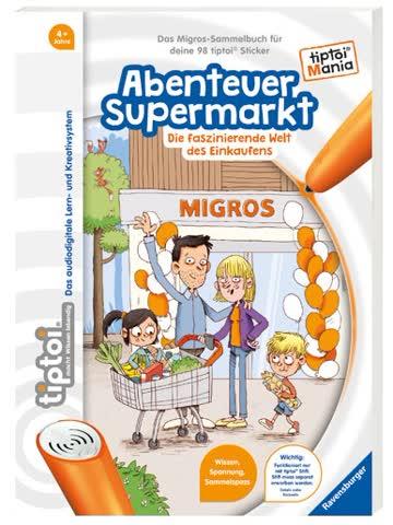 """Migros Tiptoi Mania """"Abenteuer Supermarkt"""" komplettes Set"""