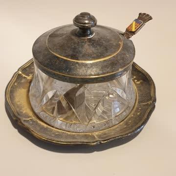 Antikes Kristall Zucker töpfcheb evl Silber?