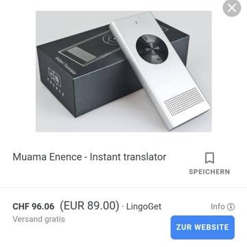 Übersetzter, Translater. Enence