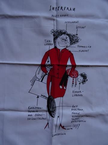 Küchentüchli - Design Ann Lee - Super Frau