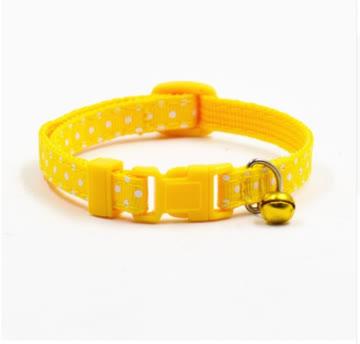 NEUES Katzen Halsband gelb-weiss Polka dots