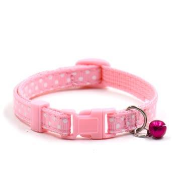 NEUES Katzen Halsband rosa-weiss Polka dots