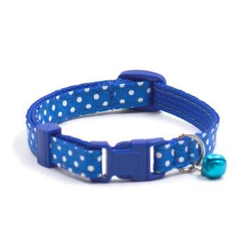 NEUES Katzen Halsband blau-weiss Polka dots