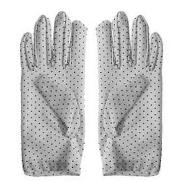 NEUE Damen Handschuhe grau-schwarz Polka dots Gr. XS/S