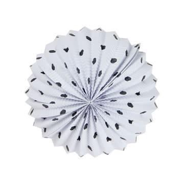 NEUES Lampion weiss-schwarz Polka dots 19cm