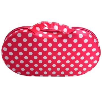 NEUER Büstenhalter Koffer pink-weiss Polka dots