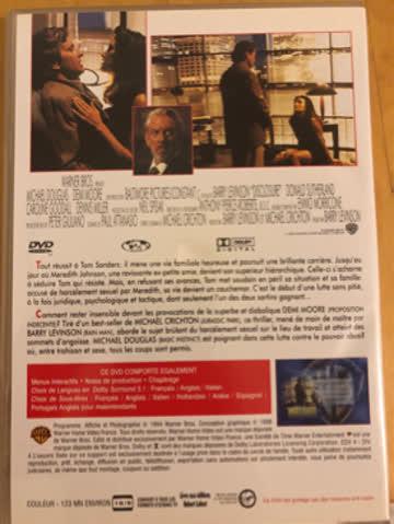 DVD - Harcelement - Michael Douglas/Demi Moore