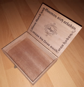 Alte Zigarrenkiste von Villiger aus Holz