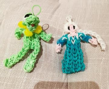 Rainbow Loom Elsa und Kermit