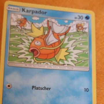 6mal Pokemonkarten