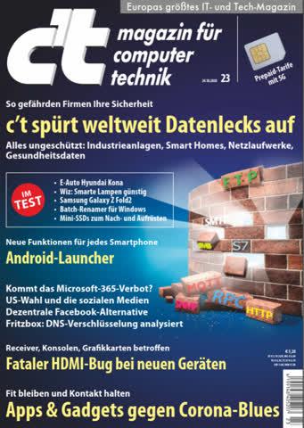 c't magazin für computer technik 23 - 24.10.2020