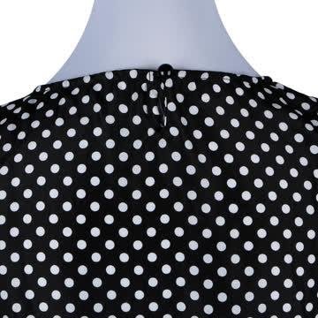 NEUE Chiffon Bluse schwarz-weiss Polka dot Gr XS