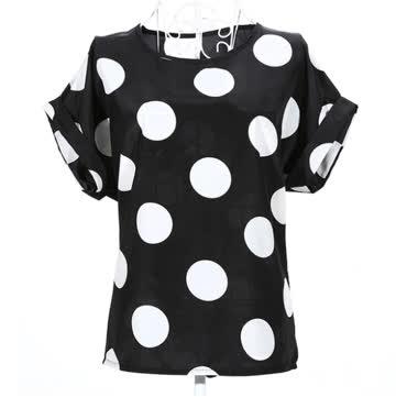 NEUE Bluse schwarz-weiss Polka dots Gr. XS