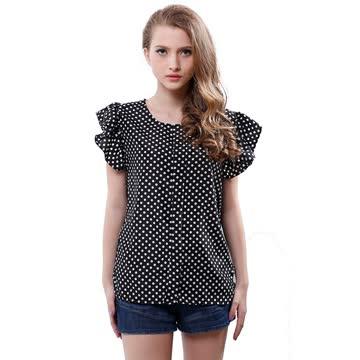 NEUE Bluse schwarz-weiss Polka dots Gr. L