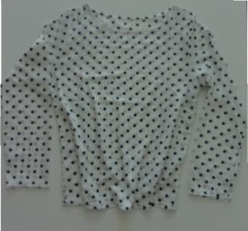 NEUE Bluse weiss-schwarz Polka dots Gr. L