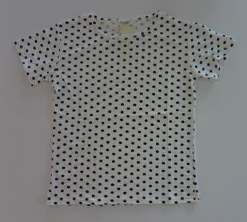 NEUES T'shirt weiss-schwarz Polka dots Gr. M