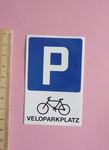 "Aufkleber ""Veloparkplatz"""