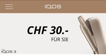 IQOS Gutschein CHF 30.-