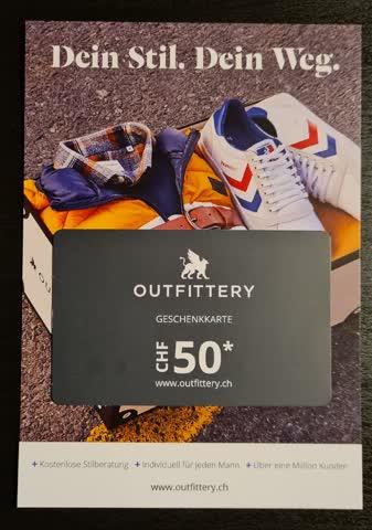 50.- Outfittery Gutschein
