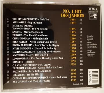 10 Years The Best of No.1 Hits on Compact Disc