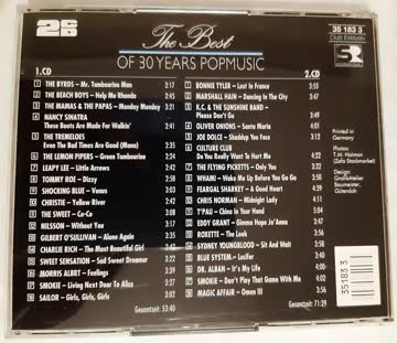 The Best of 30 Years Popmusic
