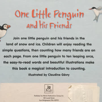 One little penguin and his friends