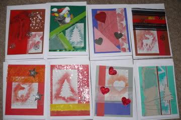 * 9 Weihnachtskarten (selfmade)