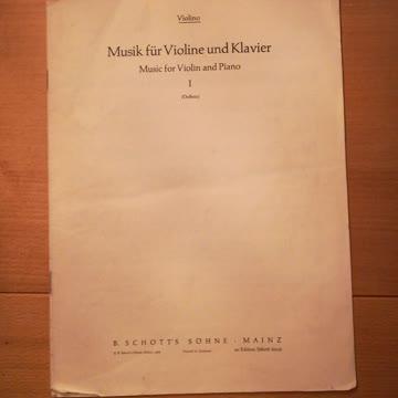 Noten für Violine und Klavier
