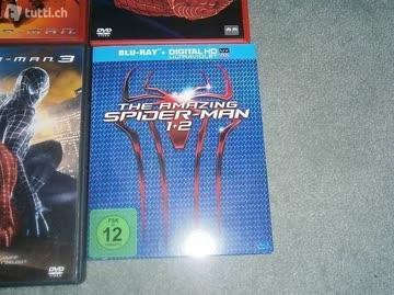 Spidermann 1-3 DVD und Neu BR Amazing1+2