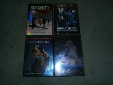 Aeonflux ,UltraViolet, Serenity , Ballistic,