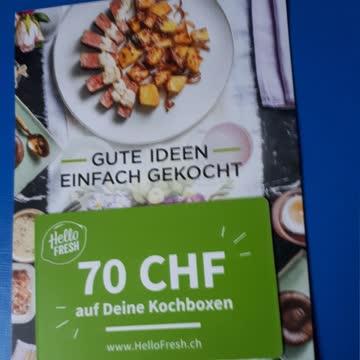 HelloFresh.ch Kochboxen